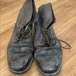Allsaints spitalfields NEW leather boots vintage